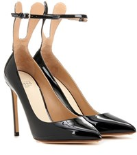 Francesco Russo Patent Leather Pumps Black