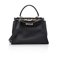 Fendi Women's Peekaboo Satchel Black Blue Black Blue