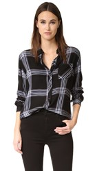 Rails Hunter Button Down Shirt Black Royal