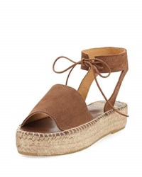 Andre Assous Selena Suede Espadrille Sandal Brown