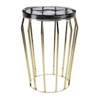 Amara Smoked Glass Round Side Table