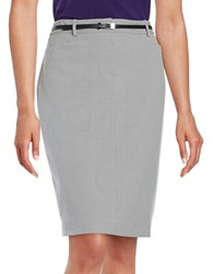 Calvin Klein Belted Pencil Skirt Tin