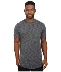 Publish Darwin Heathered Knit Henley Slate Men's Clothing Metallic