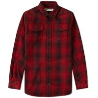 Off White Tartan Shirt Red