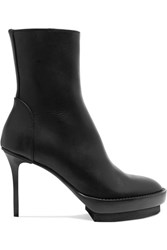 Ann Demeulemeester Leather Platform Ankle Boots Black