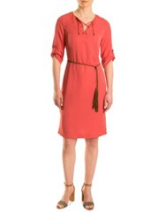 Olsen Lace Up Shift Dress Sienna