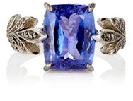 Cathy Waterman Women's Tanzanite Leafside Ring Colorless