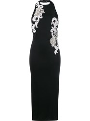 Balmain Crystal And Pearl Embellished Dress Black