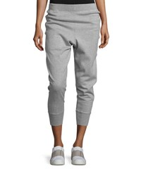 Vince Cotton Blend Relaxed Jogger Pants Gray