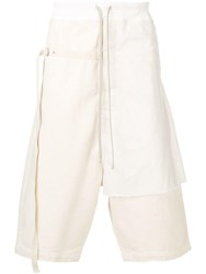 Rick Owens Drkshdw Layered Track Shorts Neutrals