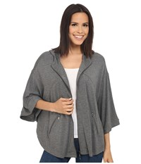 Kensie Drapey French Terry Jacket Ks2k2238 Heather Ash Women's Coat Gray