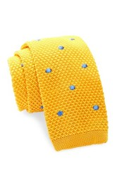 Burma Bibas Dot Knit Tie Yellow