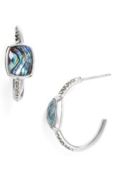 Judith Jack Women's Abalone Hoop Earrings