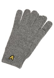 Lyle And Scott Gloves Mid Grey Mottled Grey