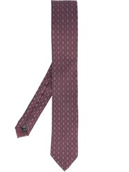 Dolce And Gabbana Printed Tie Pink And Purple