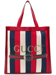 Gucci Printed Tote Red