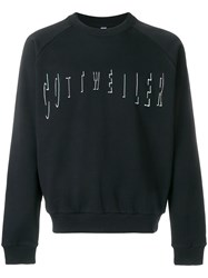 Cottweiler Logo Embroidered Sweatshirt Black