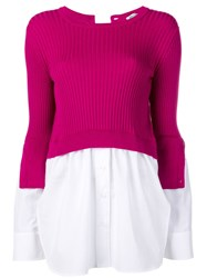 Kenzo Layered Knitted Top Pink