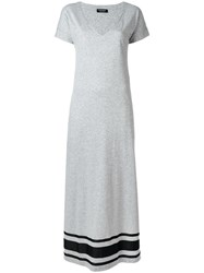 Twin Set Maxi V Neck Dress Grey