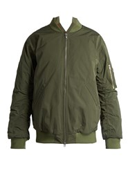 Martine Rose Ruched Nylon Bomber Jacket Khaki
