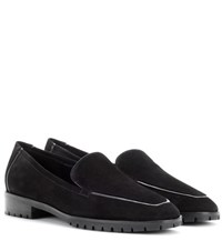 The Row Suede Loafers Black