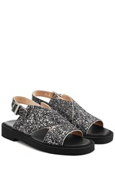 Carven Glittered Leather Sandals