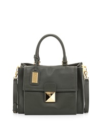 Badgley Mischka Finnie Medium Leather Satchel Hunter
