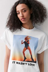 Urban Outfitters Lady Gaga Perfect Illusion Tee White