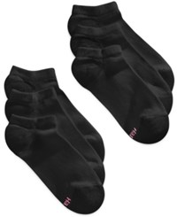 Hanes Women's Core No Show Socks 6 Pack Black