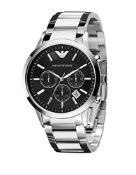 Emporio Armani Mens Stainless Steel Chronograph Watch Silver