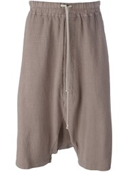 Rick Owens Drkshdw Casual Drop Crotch Shorts Grey