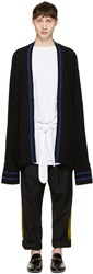 Haider Ackermann Black Long Wool Cardigan