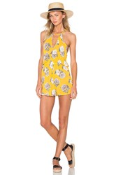 Minkpink Spread Like Wildflowers Romper Yellow