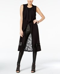 Material Girl Juniors' Lace Back Maxi Vest Only At Macy's Caviar Black