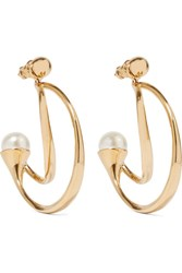 Chloe Darcey Gold Plated Faux Pearl Earrings