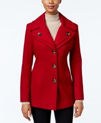 London Fog Petite Layered Collar Peacoat