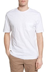 True Grit Men's Raw Edge Slub T Shirt White