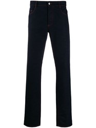 Missoni Striped Lining Regular Trousers Blue