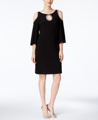 Msk Cold Shoulder Shift Dress Black