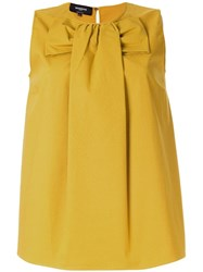 Rochas Bow Front Blouse Yellow