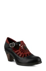 L'artiste April Pump Black Multi Leather