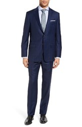 Hickey Freeman Men's Beacon Classic Fit Windowpane Wool Suit