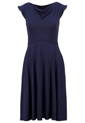 Swing Summer Dress Marine Dark Blue