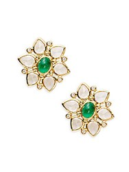 Temple St. Clair Cl Color 18K Yellow Gold Ottoman Stud Earrings