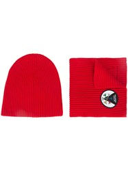 Aztech Mountain 1St Tracks Hat And Scarf Nylon Spandex Elastane Wool Red