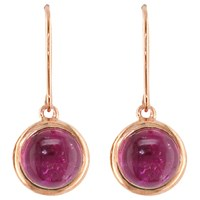 London Road 9Ct Rose Gold Pimlico Bubble Drop Earrings Tourmaline