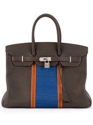 Herma S Vintage 'Birkin Club 35' Tote Brown