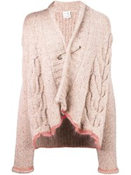 Forte Forte Cable Knit Safety Pin Cardigan Nude And Neutrals