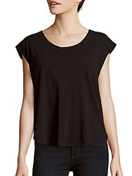 Chaser Cap Sleeve Cutout Top Black