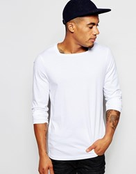 Asos Long Sleeve T Shirt With Square Neck In White
